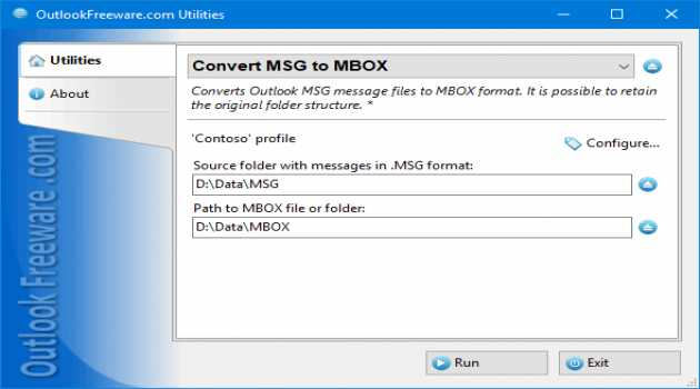 Convert MSG to MBOX for Outlook