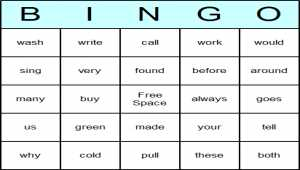 Dolch 2nd Grade Bingo Cards and Game