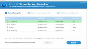 Jihosoft iTunes Backup Unlocker Mac