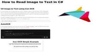 How to Read Text from an Image in C#