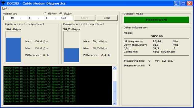 Cable Modem Diagnostic