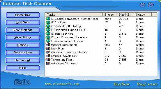 Internet Disk Cleaner