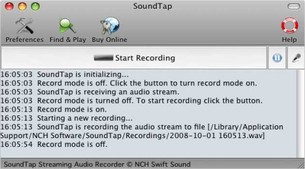 SoundTap Streaming Recorder Free for Mac