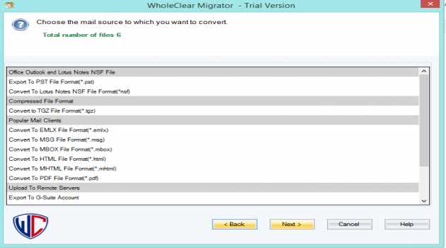 WholeClear OST to NSF Converter