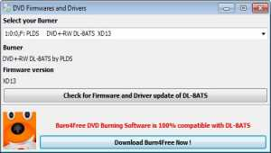DVD Firmwares and Drivers