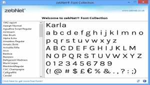 zebNet Font Collection