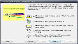 Intelliscore Polyphonic MP3 to MIDI Converter