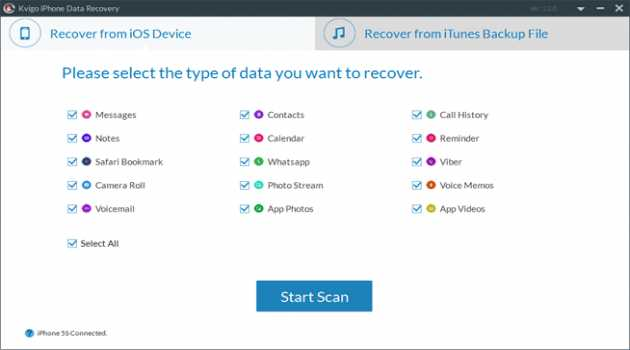Kvigo iPhone Data Recovery for Mac
