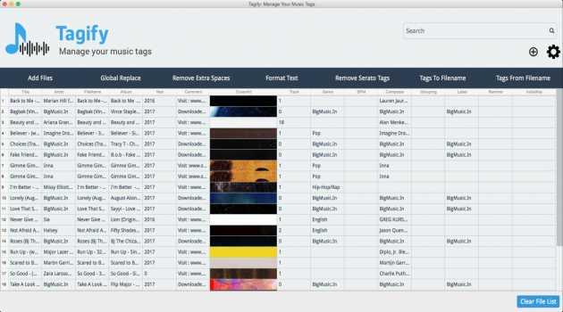 Tagify Tag Editor For Mac OSX
