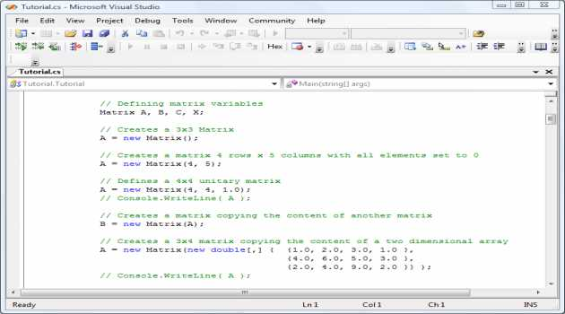 .NET Matrix Library 64-bit Developer