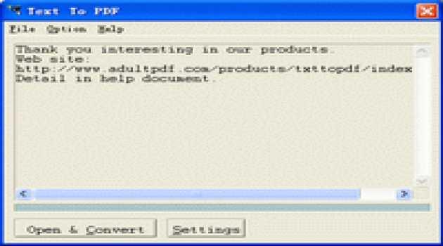 Text To PDF COM/SDK