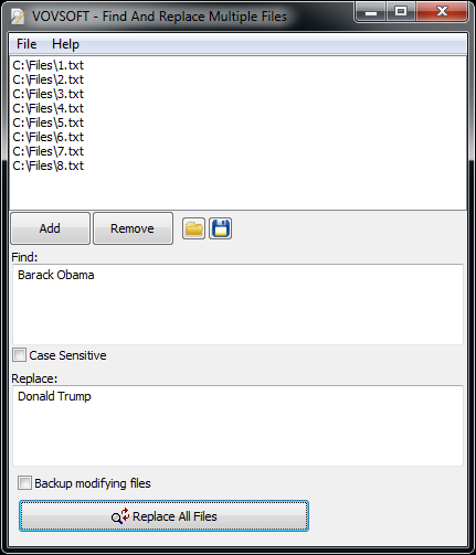 Find And Replace Multiple Files