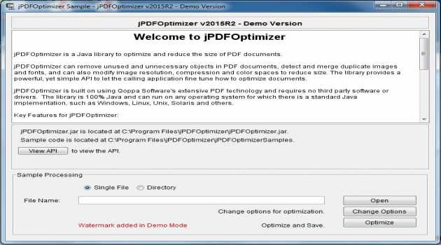 jPDFOptimizer for Linux