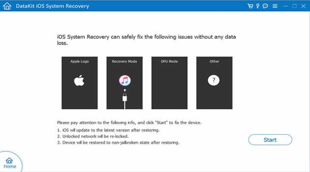 DataKit iOS System Recovery