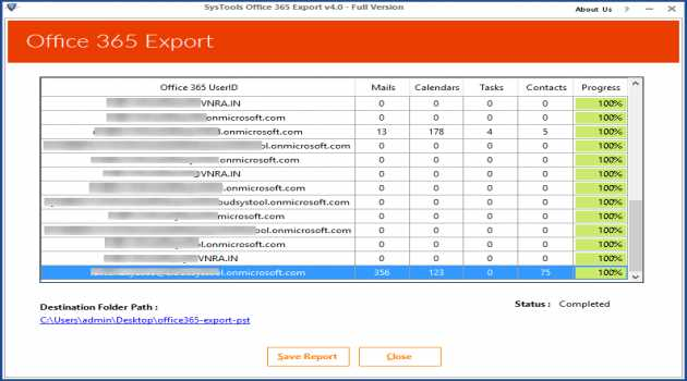 Office 365 Export Utility