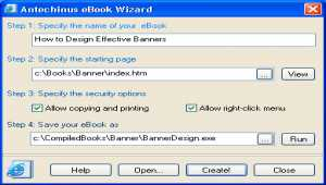 Antechinus eBook Wizard