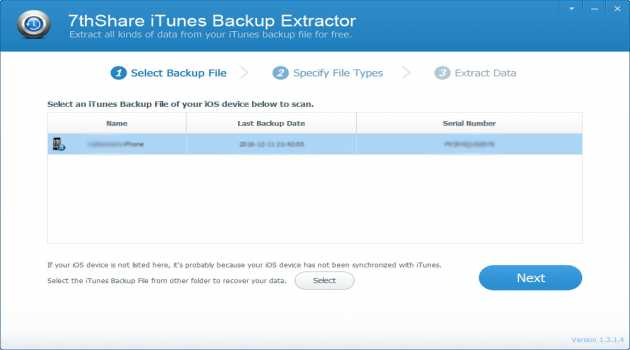 7thShare iTunes Backup Extractor