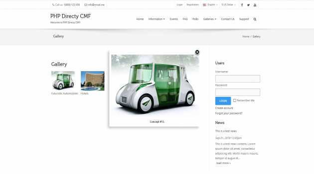 Gallery Module for Directy CMF