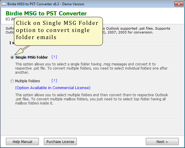 Convert MDaemon MSG to PST