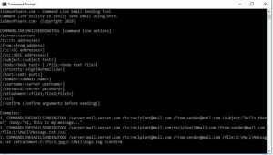 Command Line Email Sending Tool
