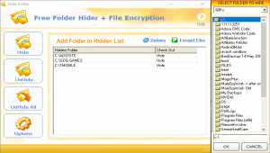 Free Folder Hider with File Encryption