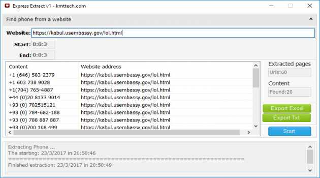 Best Website Email and Phone Number Extractor