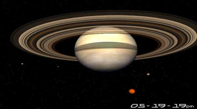 Planet Saturn 3D Screensaver