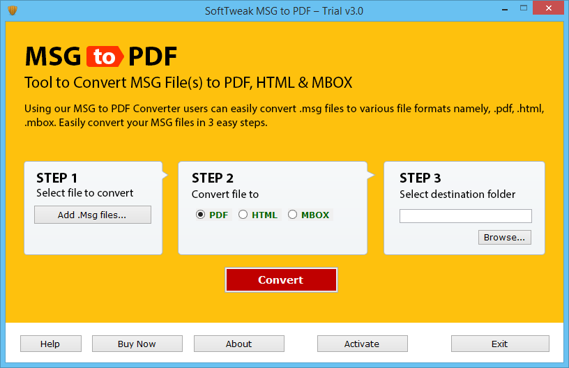 Batch Convert MSG to PDF Adobe