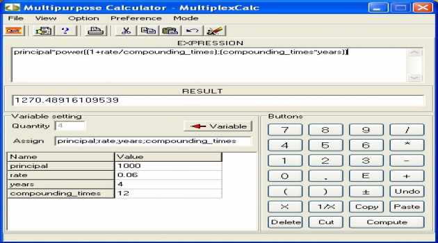 Multipurpose calculator - MultiplexCalc