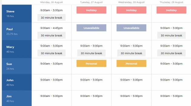 Express Schedule Scheduling Software