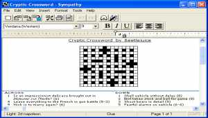 Sympathy Crossword Construction