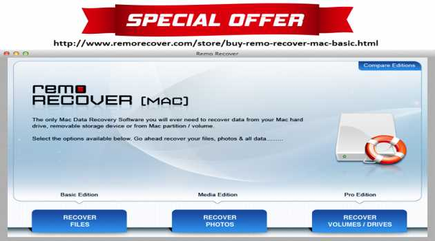Remo Volume Recovery Mac
