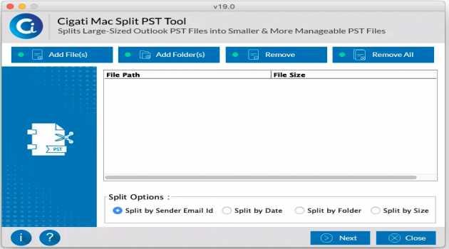 Cigati Mac PST Splitter
