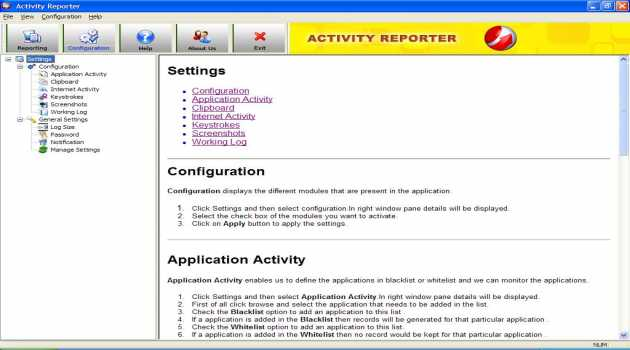 Activity Reporter Software