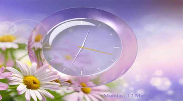 Enchanting Clock Screensaver