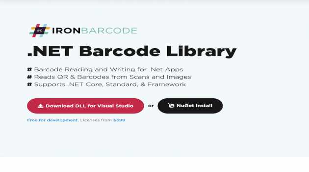 .NET Barcode Library