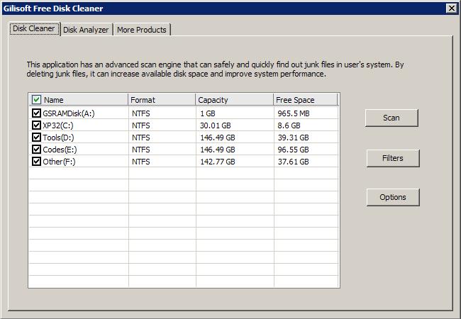 GiliSoft Free Disk Cleaner