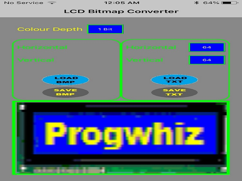 LCD Bitmap Converter for iOS