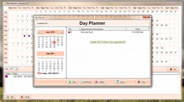 SSuite Year and Day Planner