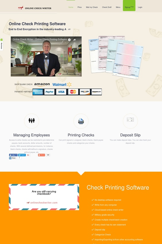 check writing software 2 0 print your checks online instantly
