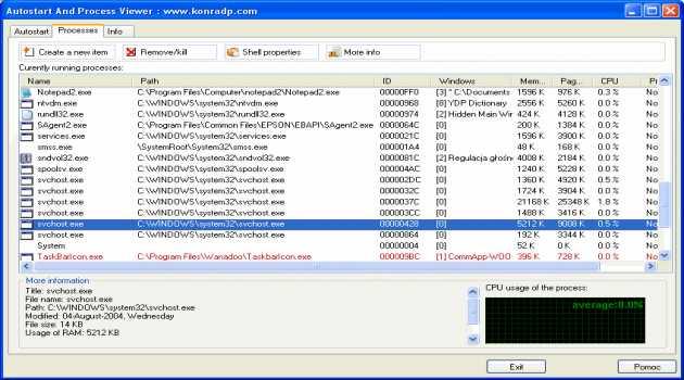Autostart and Process Viewer