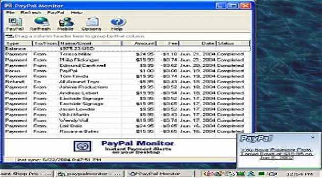 PayPal Monitor