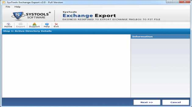 SysTools Exchange Export