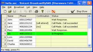 Voicent Broadcast By SMS