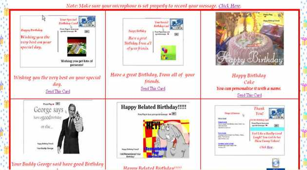 Birthday eCards with Your Personal Voice