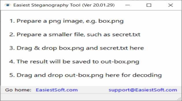 Easiest Steganography Tool for Windows
