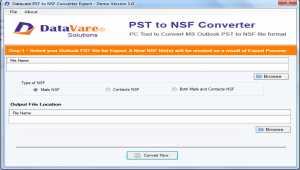 DataVare PST to NSF Converter Expert