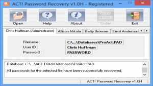 ACT Password Recovery