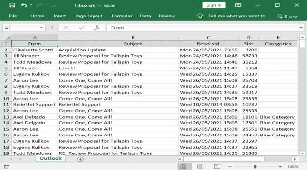 ReliefJet Quick Reports for Outlook