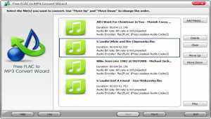 Free FLAC to MP3 Convert Wizard